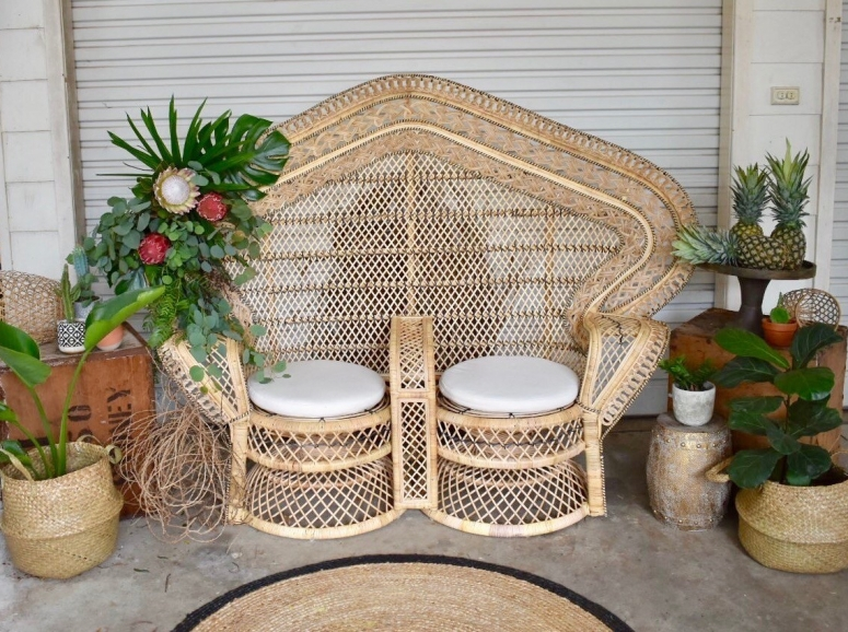 Double Peacock Chair $200