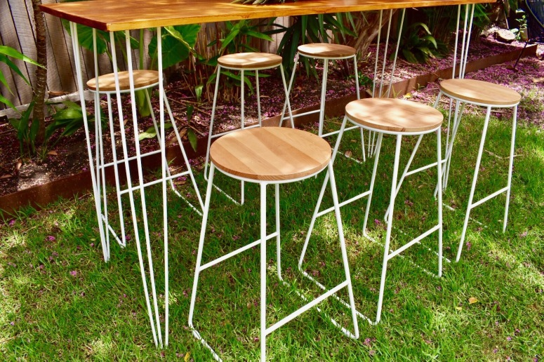White Bar Stools 12 available $8 each