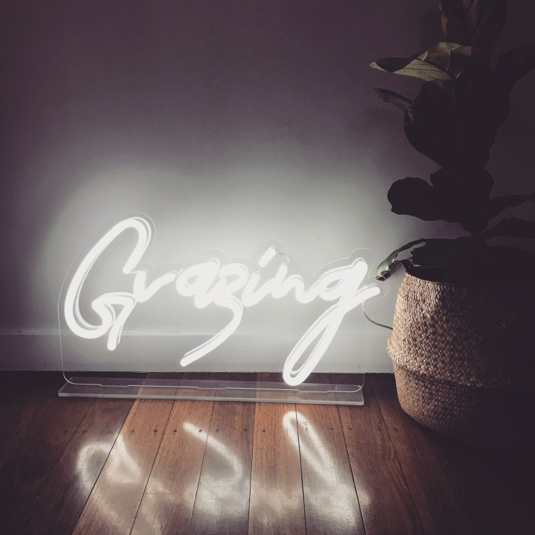 Grazing Neon Light with stand 1 available $80